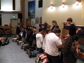 youth receive communion