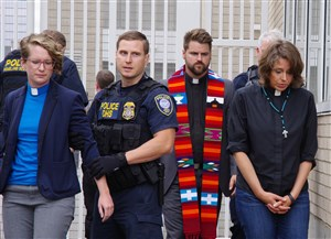 7 United Methodist clergy, faith leaders arrested in peaceful ICE protest in Portland